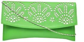 Hawaishop Women Solid PU - Sling Bag Green