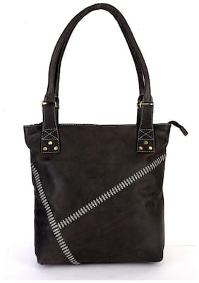 Hawai Leather Shoulder Bag for Women in Grey