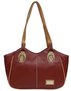 Hawaishop Faux Leather Women Handheld Bag - Maroon