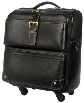 "Bag Jack  - A Style icon ""Corvus - Tony Perotti"" Handcrafted black Color Cabin Leather Travel Bag is here!"