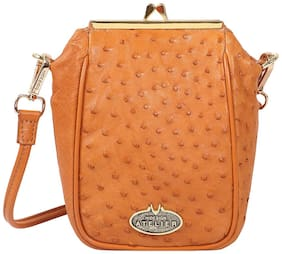 Hidesign Argonne Tan Leather Womens Slingbag