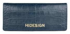 Hidesign Women Blue Leather Wallet