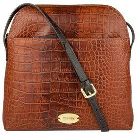 Hidesign Women Solid Leather - Sling Bag Brown