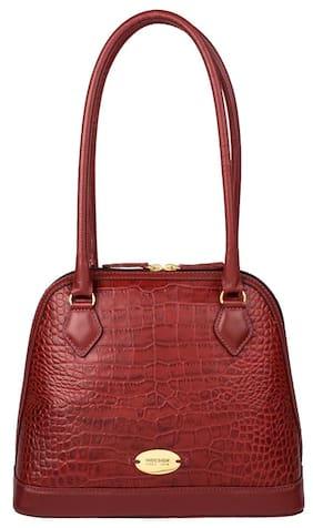 Hidesign Leather Women Shoulder Bag - Red