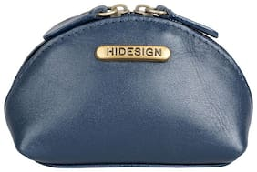 Hidesign Women Solid Leather - Clutch Blue
