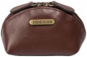 Hidesign Women Solid Leather - Clutch Brown