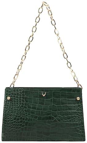 Hidesign Jitterbug 03 Green Leather Womens Shoulder Bag