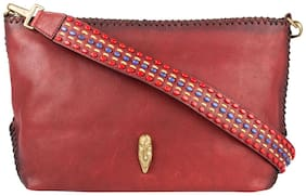 Hidesign Women Solid Leather - Sling Bag Red