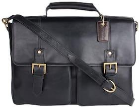 Hidesign Black Leather Messenger bag
