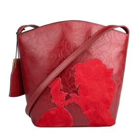 HIDESIGN ROSE 03 RED LEATHER LADIES HAND BAG