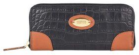 Hidesign Women Leather Clutch - Black