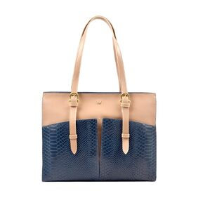 HIDESIGN VIRGO 02 SB BLUE LEATHER LADIES HANDBAG