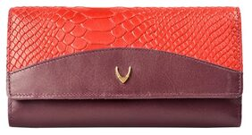 HIDESIGN VIRGO W1 SB (RF) PURPLE LEATHER LADIES PURSE