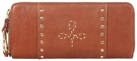Hidesign Women Tan Leather Wallet