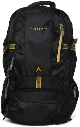 ARISTOCRAT Polyester Men Rucksack - Black