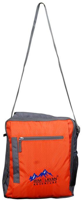 Himalayan Adventures Orange;Messanger Bags/ Side Bags/Rucksack/Travelling Bag/Hiking Bag/Adventure Bag/Camping Bag (Nylon;HA-802-Orange)