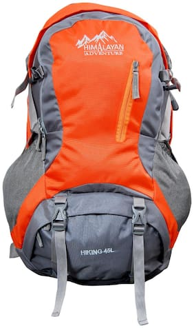 Himalayan Adventures Orange Nylon Backpack