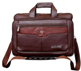 Himalayan Adventures 16 inch Brown Leather Laptop sleeve
