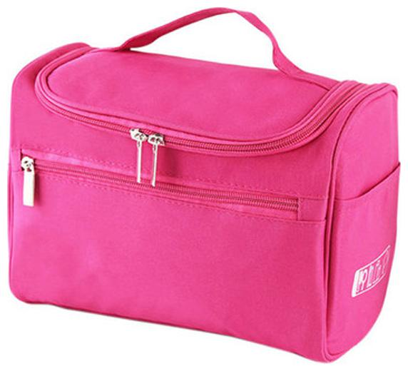 Honestystore Women Travel Makeup Bag Multifunction Cosmetic Bags Polyester Fashion Waterproof Storage Toiletry Bag Organizer  Pink  by Honesty Store