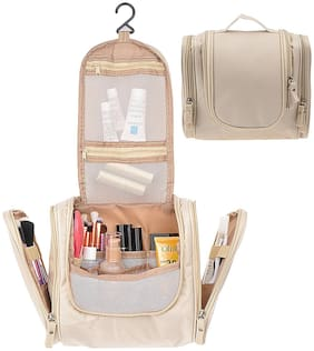 House of Quirk Beige Toiletry Bags