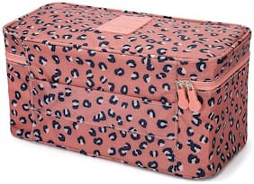 House of Quirk Pink Polyester Multi Functional Travel Accessories Storage Bags