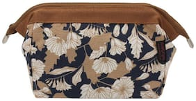House of Quirk Women's Polyester Brown Toiletry Kit Jewelry Organizer