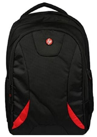 HP Premium 39.624 cm (15.6 Inch) Laptop Backpack (Black & Red) HP