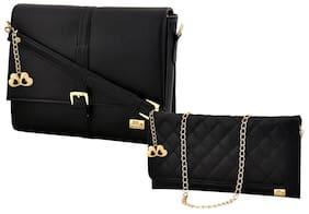 I DEFINE YOU Women Solid Pu - Sling Bag Black