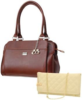 I DEFINE YOU Pu Women Handheld bag - Brown