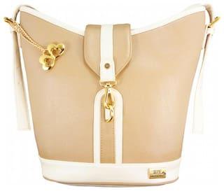I DEFINE YOU Faux leather Women Handheld bag - Beige