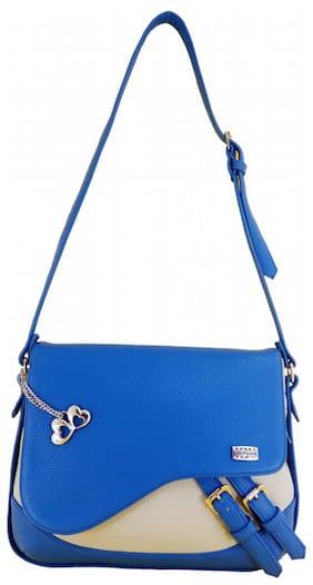 I DEFINE YOU Women Solid PU - Sling Bag Blue