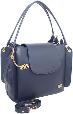 I DEFINE YOU Blue PU Handheld Bag