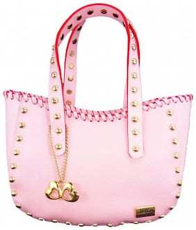 I DEFINE YOU Faux Leather Women Handheld Bag - Pink