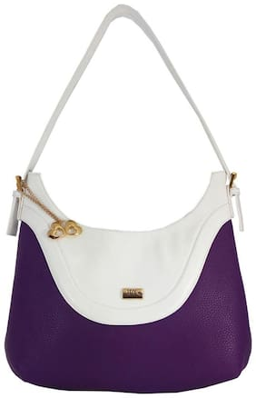 I DEFINE YOU Faux Leather Women Handheld Bag - Purple