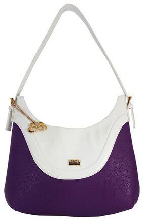 I Define You Purple & White Color Women's Shoulder Bag