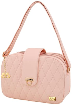 I DEFINE YOU Pink PU Handheld Bag
