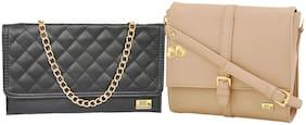 Regular Sling Bag ( Beige;Black )