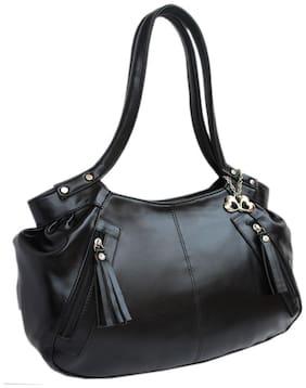 I DEFINE YOU Black Faux Leather Handheld Bag
