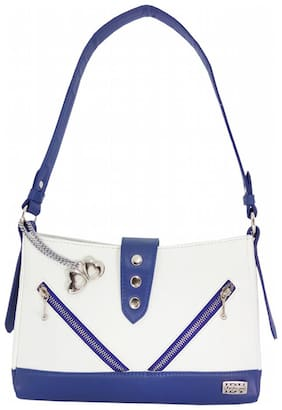 I DEFINE YOU Faux Leather Women Handheld Bag - White