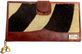 I DEFINE YOU Women Brown Leather Wallet
