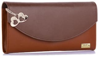 I DEFINE YOU Women Brown PU Wallet