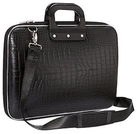 I Divas Black Faux leather Laptop briefcase