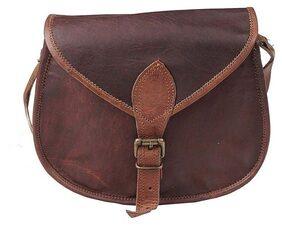 iHandikart Handcrafted Leather Sling Side Bag For Girls & Women