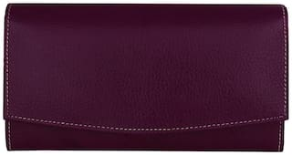 Indian Fashion Women Solid Leather - Clutch Purple