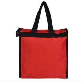 Indo Maroon Canvas Handheld Bag