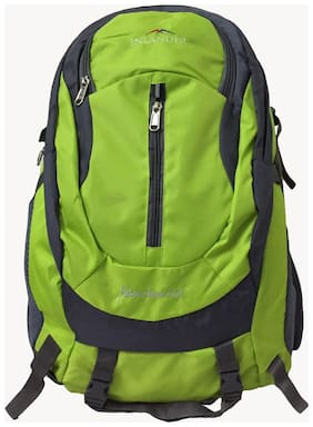 Inlander Green Waterproof Polyester Backpack