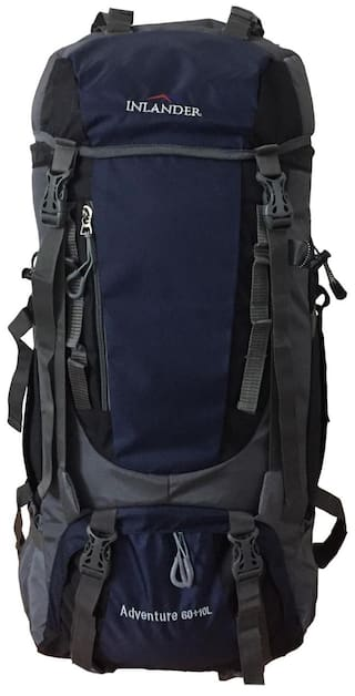INLANDER 60L Navy Blue Travel Bag Backpacking Backpack for Outdoor Hiking  Trekking Camping Rucksack 7fcd8c2abb27d