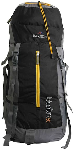 Inlander Black Polyester Backpack