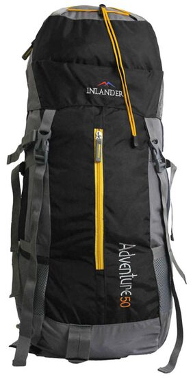 Inlander Black Polyester Rucksack Backpack