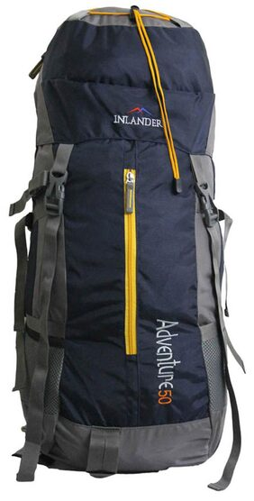 Inlander Blue Polyester Rucksack Backpack